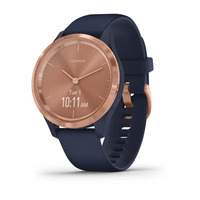 vívomove® 3S - Rose Gold Stainless Steel Bezel with Navy Case and Silicone Band