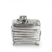Princess and the Pea Fairy Tale Pewter Trinket Box