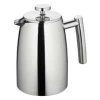 Modena 800ml/6 Cup Twin Wall Stainless Steel Coffee Plunger