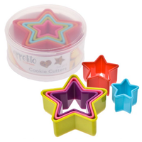 Set of 5 Star Multicolured Cookie Cutters