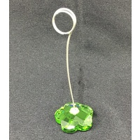 Green Crystal Place Card Holder