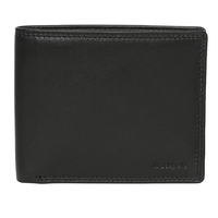 Black Soft Nappa Leather Wallet with Coin Pocket