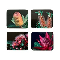 Native Grace Pack of 4 Assorted Cork Backed Coasters
