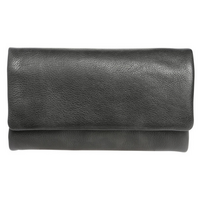 Ladies Black Vintage Leather Wallet
