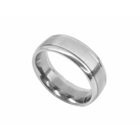 Polished and Satin Finish Men's Ring