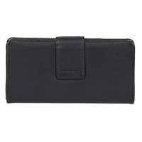 RFID Protected Multi Card Black Nappa Leather Wallet