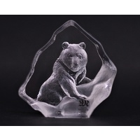 Grizzly Bear - Miniature Glass Etching