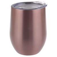 330ml Stainless Steel Double Wall Insulated Wine Tumblers with Splash-proof Lid