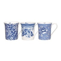 Queens Blue Story 200ml Royale Fine Bone China Mugs