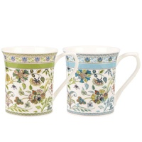 Queens Antique Floral 200ml Royale Fine Bone China Mugs