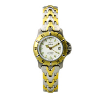 Ladies 'Amphibian' 200 Metres Water Resistant Stainless Steel Two Tone Watch with Luminescent Hands - CM114T1XB