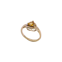 9 Carat Yellow Gold Citrine and Diamond Ring