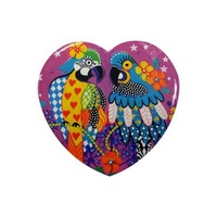 Donna Sharam Love Hearts 10cm Cork Backer Ceramic Coasters