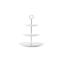 White Basics 3 Tier Diamonds Cake Stand