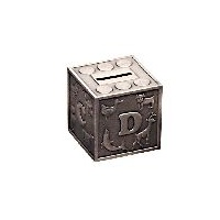 Babies ABC Block Pewter Finish Money Box