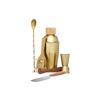 Brass 6 Piece Cocktail Set