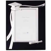 Black with Silver Inscription Graduation Photo Frame