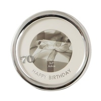 Silver Plated Round Birthday Photo Size 8 x 8cm Frames