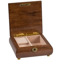 High Gloss Finish Square Timber Musical Jewellery Box