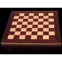 Dal Rossi 50cm Deluxe Palisander/Maple Chess Board