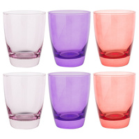 Set of 6 Tiara Pinks 365ml Double Old Fashioned Glasses
