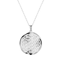 Open Filigree Circular Waved Necklace