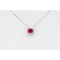 Cherry Red Cubic Zirconia Pendant