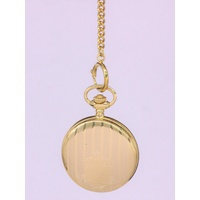 'Kensington' Covered Pocket Watch Gold Plate Stainless Steel Case PW5636 G1FP