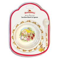 Child's Bunnykins Melamine Suction Bowl and Spoon
