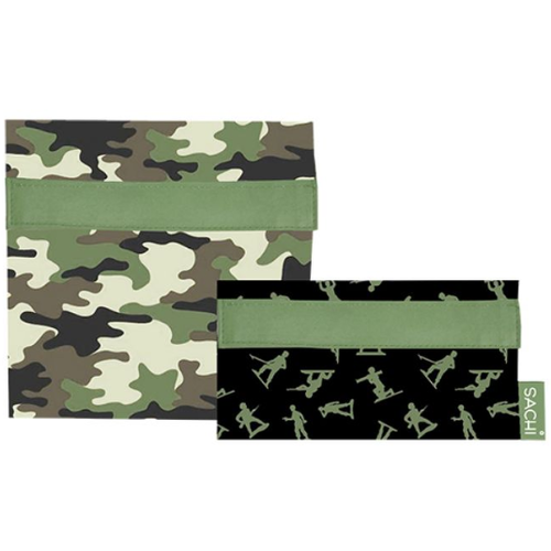 Camo Green Lunch Pockets - Set of 2