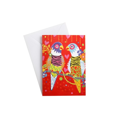 Donna Sharam Love Hearts Collection Tiger Tiger Greeting Card
