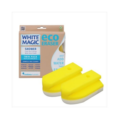 Shower Eraser Sponge Refill - Twin Pack Replacements